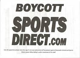 Image result for NEWCASTLE  Sports Direct protest