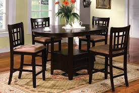black dining room sets round. Image Of: Oval Bar Dining Table Set Black Room Sets Round