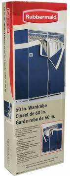 60 inch rubbermaid portable closet organizer seasonal storage blue for