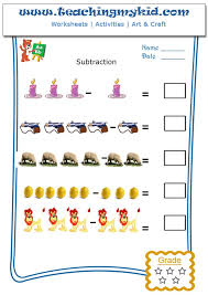 Subtraction worksheets for kindergarten-Pictorial Subtraction-2