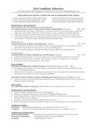 Chemist Sample Resume 18 Of A Bartender Welding