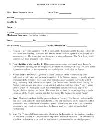 Free Printable Lease Agreement For Renting A House Vacation Rental Short Term Lease Agreement Create Download Holiday