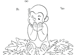 Curious George Coloring Pages For Printable Jokingartcom Curious