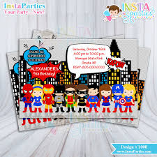 Superhero Invitation Oyle Kalakaari Co