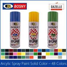Bosny Spray Paint Color Chart Bosny Acrylic Spray Paint 48 Colors 190 Clear 191 Clear Flat 4 Flat Black 39 Black
