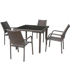garden set. Bayfield Rattan Effect 4 Seater Square Garden Furniture Set S
