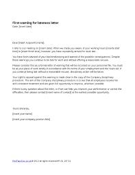 Employee Warning Letters Template Sample Warning Letter To Employee For Tardiness Erkal Employee
