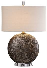 large round distressed bronze table lamp circle brown beige contemporary table lamps by my sy home