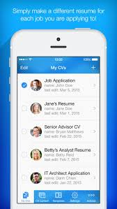 app resume resume builder resume creator by pocketsoft llc