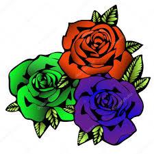 роза цветок эскиз татуировки три цветы розы в необычные яркие