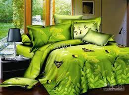 green yellow comforter bedding set