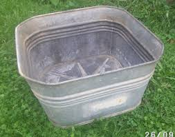 antique vintage galvanized double wash tub replacement square tub