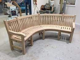 curved garden bench heading for london
