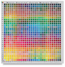Paint Color Mixing Chart Magic Palette Artists Color Selector And Mixing Guide