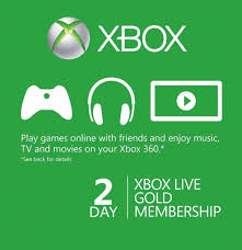 xbox live 48 hour 2 day gold trial card global