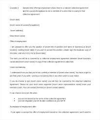Sample Employment Offer Letter Template Sample Job Offer Letter From Employer Template Word For