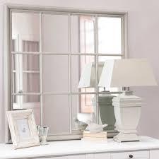 mirror 120cm. camargue wooden mirror in grey h 120cm