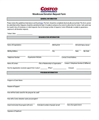 Dollar General Donation Request Form Sample In Kind Contribution ...