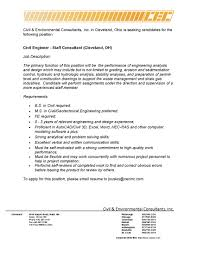 Cover Letter Sample Resume Of Civil Engineer Cv Environmental Job