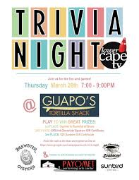 Lower Cape Tvs Trivia Night Guaposwomr Outermost