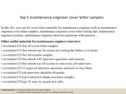 Electrical maintenance engineer cover letter SlideShare