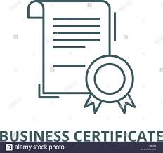 Certificate Outline Business Certificate Vector Line Icon Linear Concept