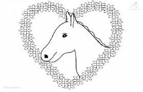 Kleurplaat Paard Met Hartjes Paarden Kleurplaten Paarden En