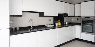 Horizon High Gloss White Gallagher Kitchens L Shaped Kitchen Cabinets
