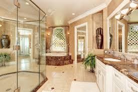 Schöne Luxus Marmor Badezimmer Interieur In Beige Farbe Große