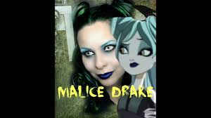 ever after high malice drake makeup tutorial daughter of maleficent cosplay