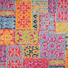 Cynthia Rowley Moroccan Tile Mosaic 3pc Quilt Set Pink Orange Teal ... & Cynthia Rowley Moroccan Tile Mosaic 3pc Quilt Set Pink Orange Teal Lime  Queen Adamdwight.com
