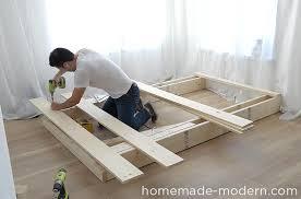 platform bed with steps.  Steps This DIY Platform Bed Is Made Out Of 2x8s 2x4s And Pine Boards I And Platform Bed With Steps