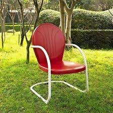 retro metal patio chairs. Retro Metal Lawn Chair Front Porch Red White Vintage Style Deck Seat Patio Yard Chairs