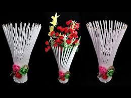 News Paper Flower Vase Newspaper Flower Vase Flower Vase Making Download Youtube