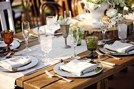 glasses table setting. Mismatched Glasses Table Setting