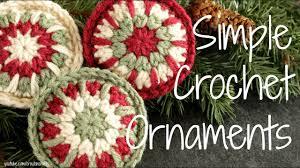 Crochet Christmas Ornaments Patterns Unique Simple Crochet Ornaments Crocheted Christmas Ornament Tutorial
