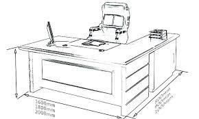 Standard Desk Size Depth Office Width Chair Ergonomic Mm