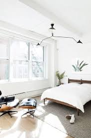 modern minimalist bedroom with palm art print. / sfgirlbybay