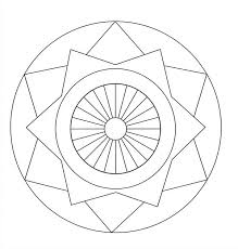easy free simple mandala coloring pages