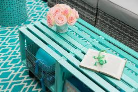 make a mobile outdoor coffee table from