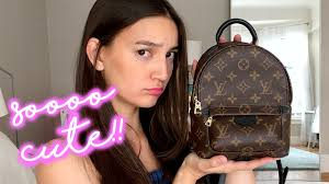 louis vuitton mini backpack. louis vuitton palm springs mini backpack - review, try-on, and what fits! youtube u