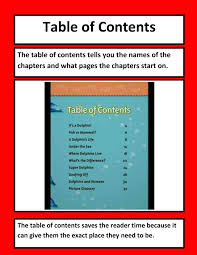 Table Of Contents Definition For Kids Home Decorating Ideas