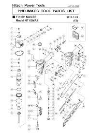 hitachi nt65ma4. nt65ma4 - pneumatic finish nailer parts schematic hitachi nt65ma4 t