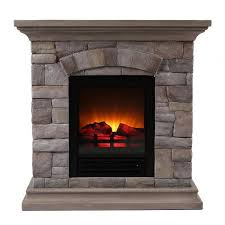 faux electric fireplace copper grove hay river black faux stone infrared electric