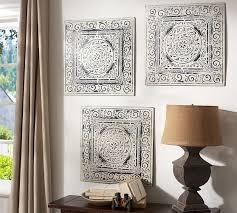 vintage tin tiles set of 3 on vintage tin tiles wall art with vintage tin tiles set of 3 pottery barn