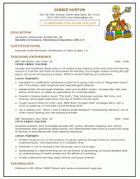 ... Elementary Education Resume Free Elementary Educator Resume resume  example