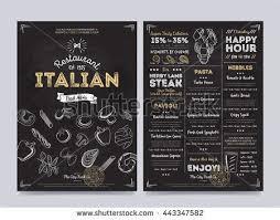 design template on chalkboard background vector ilration italian cuisine background flyer of italian ilration in vine style cover italian