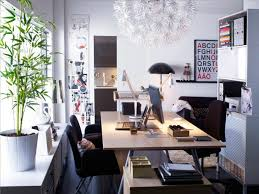 home office spaces. Scandinavian White Red Home Office Space Spaces