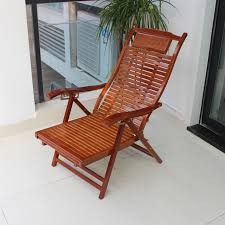 fashion bamboo folding wicker chair recliner happy rocking leisure outdoor wood sun beach chairs specials