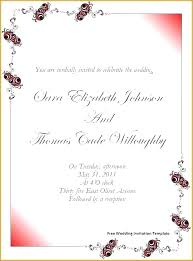 Free Download Wedding Invitation Templates Indian Wedding Invitation Templates Free Download Word Editable For